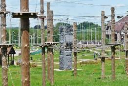 Jeleniewo Atrakcja park linowy WOSiR Szelment