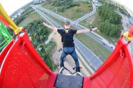 Białystok Atrakcja Bungee Bungee Jumping Mario