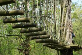 Wrocław Atrakcja park linowy Wyspa Przygody Opatowicka