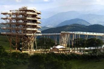 Krynica-Zdrój Atrakcja Punkt widokowy Wieża widokowa w koronach drzew