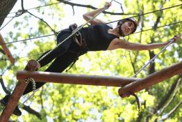 Kobylnica Atrakcja park linowy Cascaderpark