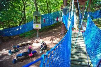 Świnoujście Atrakcja park linowy Bluszcz