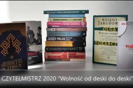 """Wieruszów Wydarzenie Literatura Czytelmistrz 2020 ph.""""Wolność od deski do deski"""""""