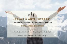 Zakopane Wydarzenie Zdrowie i uroda Warsztat Relaksu I Redukcji Stresu