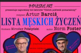 Malbork Wydarzenie Spektakl LISTA MĘSKICH ŻYCZEŃ