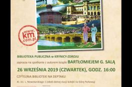 """Krynica-Zdrój Wydarzenie Spotkanie spotkanie promujące książkę """"Sekrety Krynicy"""""""