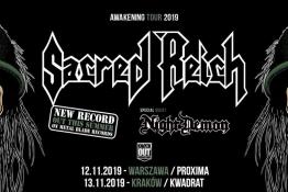 Kraków Wydarzenie Koncert Sacred Reich + Night Demon / 13 XI / Kraków